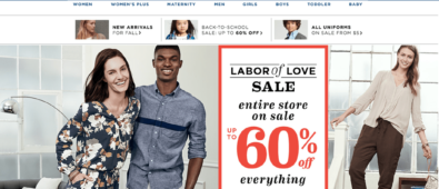 Old Navy Labor Day Weekend Sales 2018