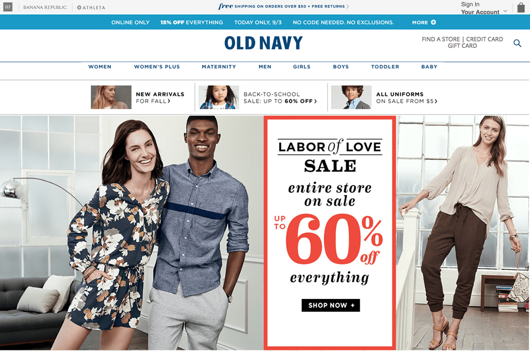 Old Navy Labor Day Weekend Sales 2018 50 Off On Clothes