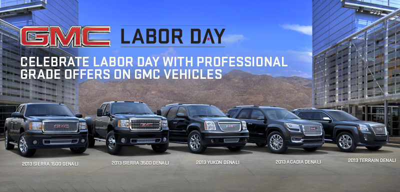 GMC Labor Day Sale